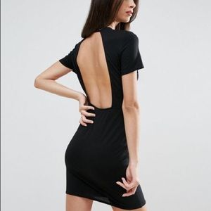 ASOS Petite T-Shirt Open Back Mini Bodycon Dress